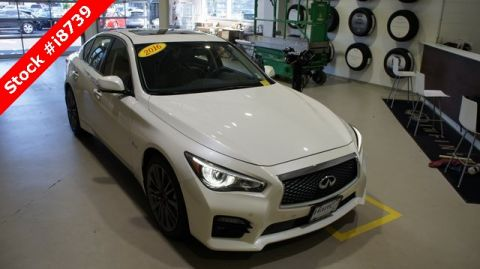 Certified Pre-Owned 2016 INFINITI Q50 Red Sport 400